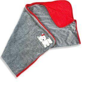 GYMBOREE WESTIE Puppy Dog Velour blanket swaddle